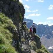 sentiero 613 - Lino Pederiva passaggio con cordino